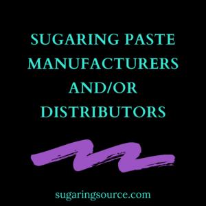 Sugaring paste manufacturers